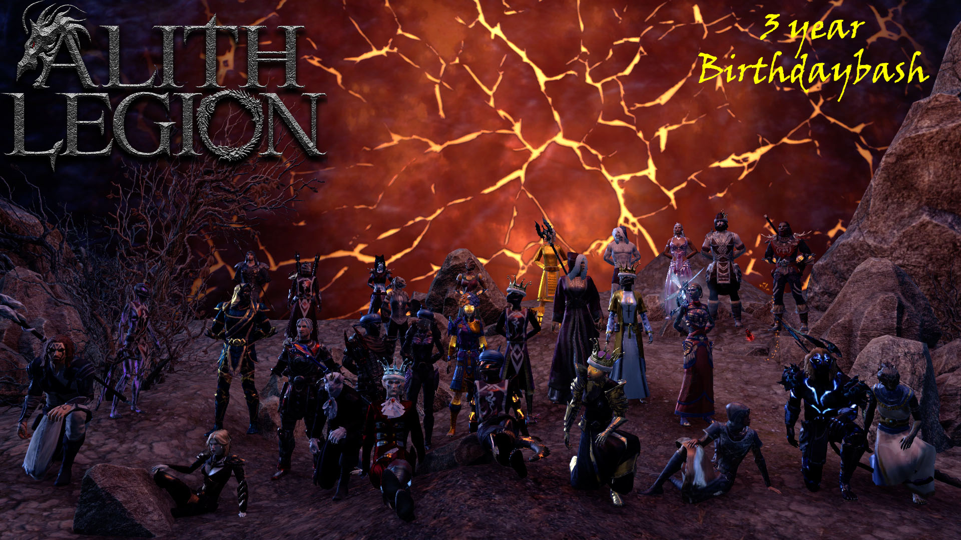 Group picture - birthday bash Alith Legion